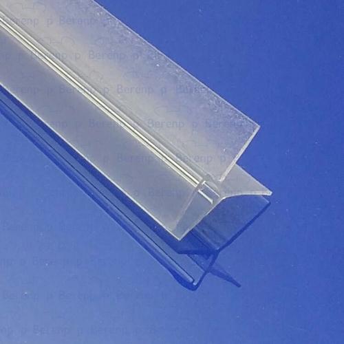Afbeelding 2 Exa-Lent Universal DS011006 - G06021100 helder doucheprofiel 2 flapjes 100cm - 6mm
