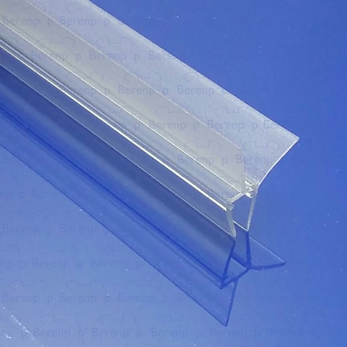 Afbeelding 3 Exa-Lent Universal DS011006 - G06021100 helder doucheprofiel 2 flapjes 100cm - 6mm