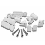 Novellini R02YOB2G-40 scharnierdelenset voor draaideur mat chroom