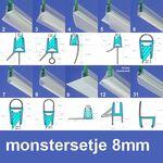 Exa-Lent Universal MON-8 Monstersetje - douchestrippen 8mm