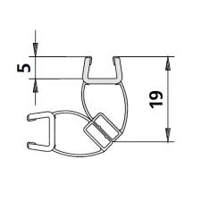 Kermi 6025701 magneetprofiel voor deurvleugel verticaal 200cm