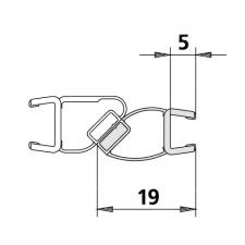 Kermi 6027865 magneetprofiel voor deurvleugel verticaal 200cm