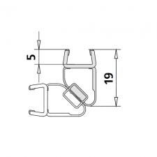 Kermi 6031697 magneetprofiel verticaal 200cm